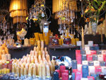 Christmas market candles