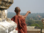 Burmese Monk in Bagan Temples