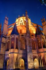 Bourges Cathedral by night