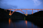 Viaduct of Garabit at night