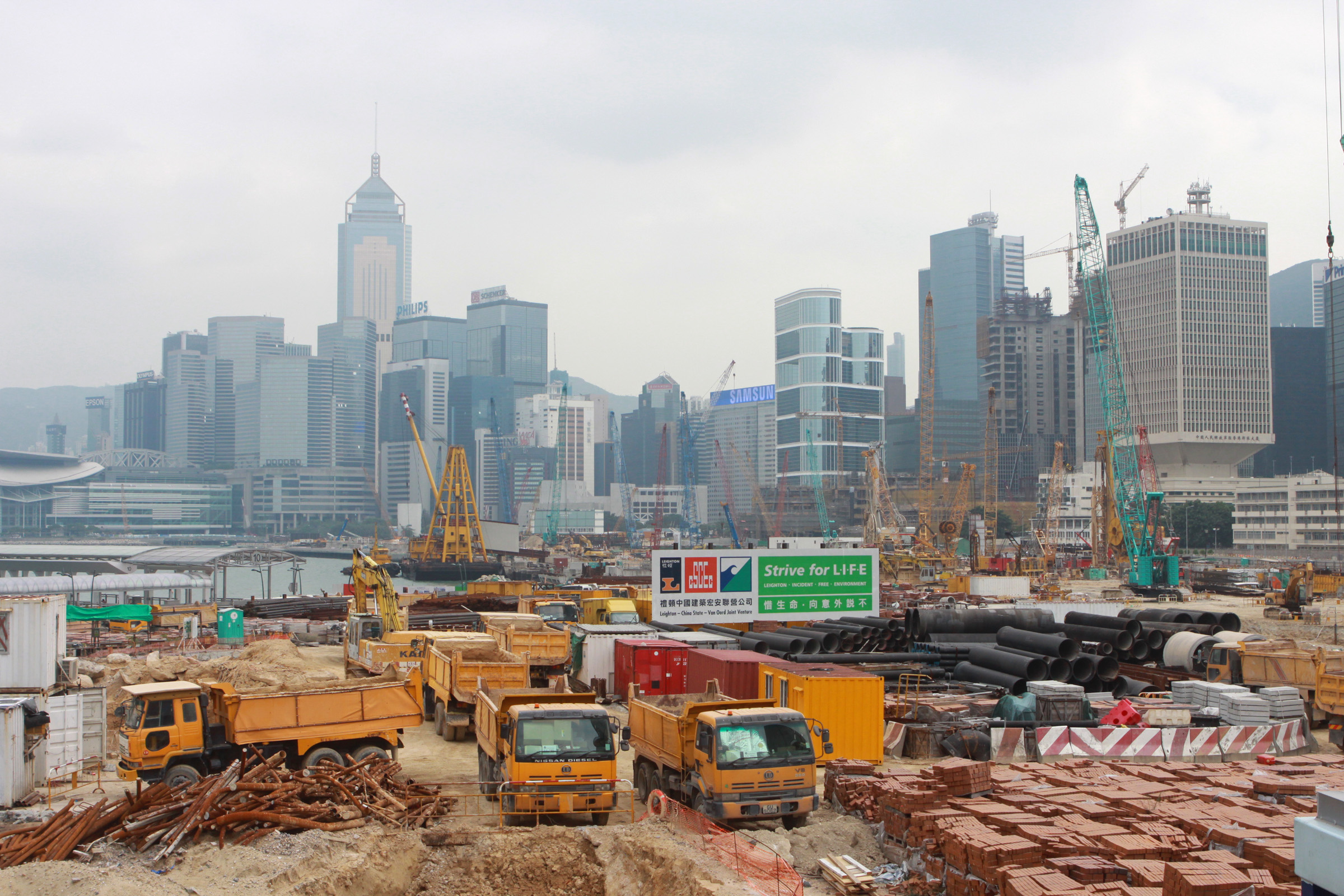Construction site in hong kong on freemages for Site in construction