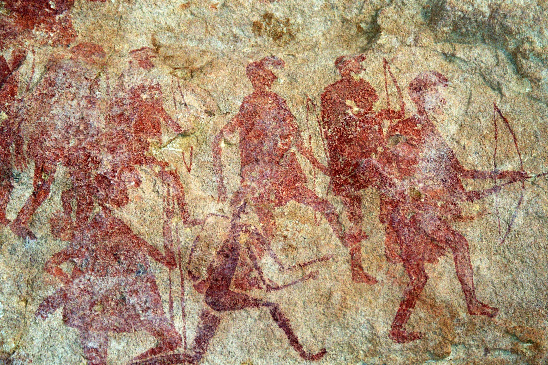 Cave painting - Warriors