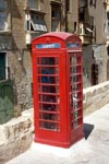 English phone booth in Valletta
