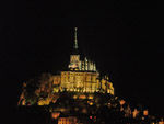 Mont Saint-Michel at night