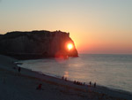 Sunset in the cliffs of Etretat