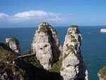 Cliffs in Etretat