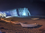 Cliffs at Etretat by night