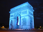 Blue Arc de Triomphe
