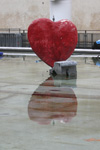Heart on water