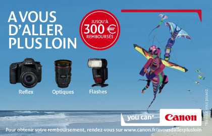 Up to 300 Euros cashback by Canon