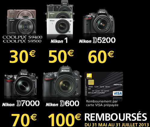€100 cashback on Nikon D600 and other reductions